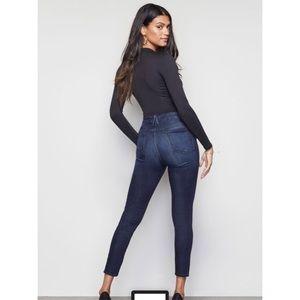 Good American 'Good Waist' Blue Skinny Jeans